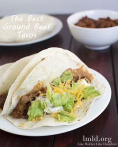 These Easy Ground Beef Tacos are so delicious! They really are simple to make and are the best tacos I've ever had at home! #lmldfood