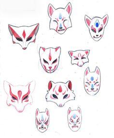 Kitsune mask ideas.                                                                                                                                                      More