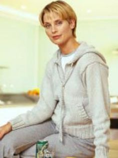 Hooded Jacket  Free   Knitting  Pattern