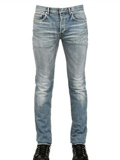 DIOR HOMME - 17.5CM SECOND ROUND DENIM JEANS - LUISAVIAROMA - LUXURY SHOPPING WORLDWIDE SHIPPING - FLORENCE