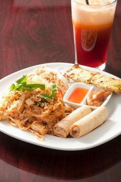 Lunch Combo #1: Pad Thai / Chicken Sate / Veggie Roll