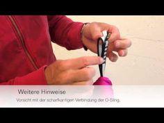 Aerial Yoga Tuch Knoten und Installation - YouTube
