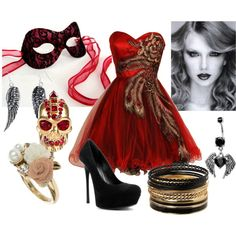 Masquerade Ball, created by #mjacks1 on #polyvore. #fashion #style Jane Norman Dorothy Perkins
