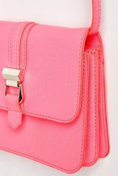 This bubblegum pink crossbody that's as bright as you are. | 27 Tiny Purses For Tiny Prices