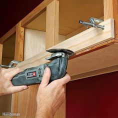 Use a Straightedge for Straight Cuts - Need to shave a little off a cabinet or a piece of trim because someone read the tape measure upside down? Use the oscillating tool to make a clean, precise cut and make the problem go away. Use a straightedge if you