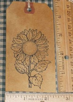 SPECIAL 40 LARGE ~ SUNFLOWER GARDEN THEME ~ PRIMITIVE GIFT HANG TAGS LOT #51 #NaivePrimitive