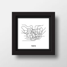 TROME - TOKYO  is a minimalistic art made from original metro maps. Influenced by simplicity and modernity.