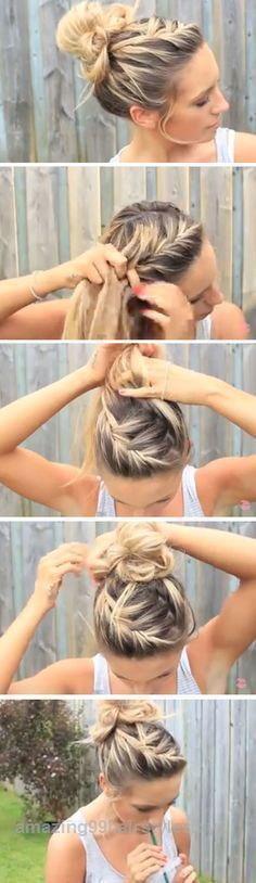 Look Over This Braids are the to-go hairstyle for any occasion. Casual day-to-day school or work calls for a comfortable hairstyle that enables you to do anything at ease and there are braided hairstyl ..