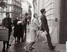 Ingrid Bergman & Anthony Perkins, photo taken during the filming of Goodbye Again. Paris, 1960. Photo: Raymond Voinque.