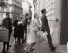 Ingrid Bergman & Anthony Perkins, photo taken during the filming of Goodbye Again. Paris, 1960. Photo: Raymond Voinque.