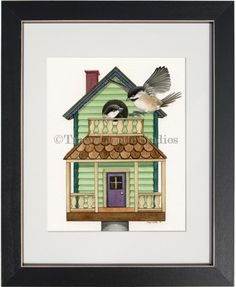 """""""Cottage Living"""" The Original Painting by TracyLizotteStudios.com available at: http://www.tracylizottestudios.com/index.php/shop/originals/bird-living-paintings/product/277-cottage-living"""