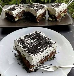 Greek Desserts, Cold Desserts, Greek Recipes, Cookbook Recipes, Cake Recipes, Dessert Recipes, Cooking Recipes, Sweet Cooking, Nutella