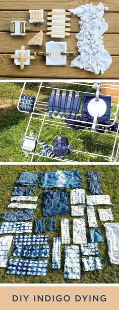 """I HAVE to try this DIY by @jen Inumerable Baker . I've always wanted to learn how to perfect Indigo Shibori Dying! These look stunning."""