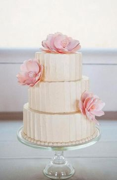 Pretty cake for a Spring #wedding {From: Whisk, where everything is just a whisk away.}