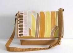 Large canvas messenger bag gold canvas bag large by Hobbitbags, $48.00
