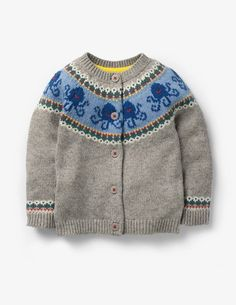 Sea Creature Cardigan Knitted Cardigans at Boden Boden Uk, Mini Boden, Baby Jumper, Blue Shark, Boys Sweaters, Pullover, Sea Creatures, Stay Warm, Pulls