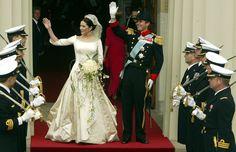 Der dänische Designer Uffe Frank kreierte das Hochzeitskleid für Prinzessin Mary von Dänemark