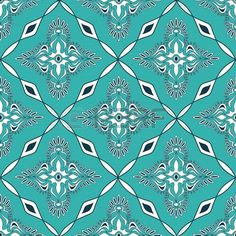 Seamless pattern of turquoise Moroccan mosaic Stock Photo - 19970016