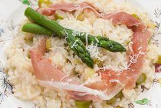 Asparagus Risotto with Prosciutto