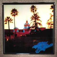 EAGLES Hotel California Coaster Record Cover Art Ceramic Tile