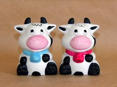 Bisque Cows Salt and Pepper Shakers    	$12.95
