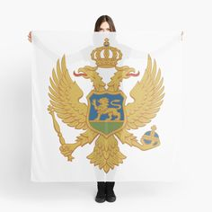 """""""Coat of arms of Montenegro"""" Scarf by ArgosDesigns Montenegro Flag, Coat Of Arms, Fun, Family Crest, The Sentence, Hilarious"""