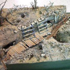 No Man's Land, 54mm terrain base, commission piece.