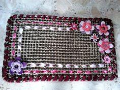 Zerbino con fiori in feltro e uncinetto - Welcome carpet with felt and tricot flowers