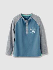 Boy's Long-Sleeved Grandad-Style T-Shirt