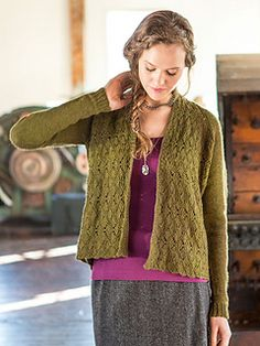Gorse is a stunning, lace-front cardigan created with innovative construction.