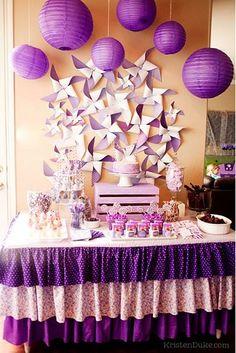 la decoración de mis mesas: 5 Ideas fáciles para decorar una comunión en malva