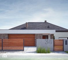 House Fence Design, Modern Fence Design, Modern House Design, Backyard Fences, Backyard Projects, Houses In Costa Rica, My House Plans, Grades, Architecture Visualization