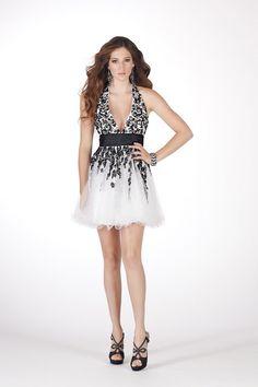 Halter Short White Organza A Line Homecoming Dress