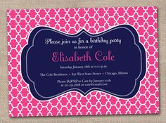 Printable Birthday Party Invitations by InkObsessionDesigns, $16.00