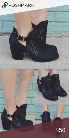 """Black Ankle Bootie(size 10) Brand new without tags. never worn, bought from another posher. I tried them on but the heel is too high for my bad back. Faux leather, 3"""" heel. Run true to size Shoes Ankle Boots & Booties"""