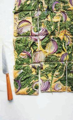 baked vegetable omelet.