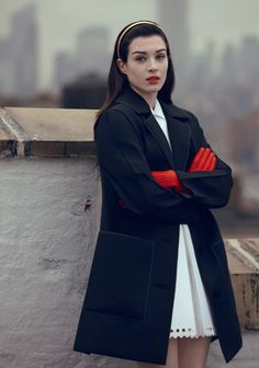 Stoya - Pop by Sean & Seng, Spring/Summer 2013 I love the red gloves with matching lip. So elegant