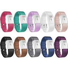 Fitbit Charge 2 Bands New Bracelet Strap Replacement Band Wristband with Secure Silicone Fasteners Metal Clasps for Fitbit Charge 2 No Tracker Style B 57 82 Inches wrist -- Check this awesome product by going to the link at the image. Fitbit 2, Fitbit Charge, Tent Accessories, Workout Accessories, Charge 2 Bands, Apple Watch Accessories, Fitness Tracker, Fasteners, Bracelet