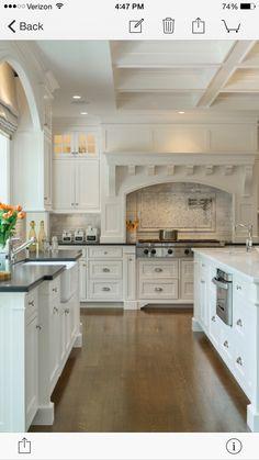 White Kitchen Redo, New Kitchen, Kitchen Remodel, Kitchen Cabinets, Shaker Cabinets, Kitchen Ideas, White Cabinets, Kitchen Designs, Kitchen Backsplash