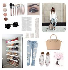 """""""Untitled #121"""" by gabibormonteiro ❤ liked on Polyvore featuring Bellezza, Converse, Terre Mère and Michael Kors"""