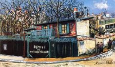 Maurice Utrillo The Remise De Voitures D'enfants, Rue Lamarck In Montmartre oil painting reproductions for sale