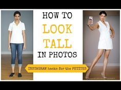 HOW TO LOOK TALL IN EVERY PICTURE-INSTAGRAM SECRETS FOR SHORT/PETITES - YouTube Selfie Tips, That Look, How To Look Better, Short Person, Standing Poses, Go Outdoors, How To Grow Taller, Poses For Pictures, How To Wear Scarves