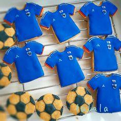 サッカーサムライブルー アイシングクッキー