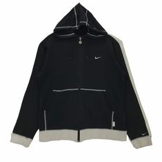 Vintage 90s Nike Hoodie Sweatshirt Full Zip Embroidery Small Logo Pullover Jumper Nike Sportwear Fashion Large Size Vintage Sweatshirt. by ClockworkThriftStore on Etsy Vest Jacket, Nike Jacket, Nike Hoodie, Vintage Nike, Hoodies, Sweatshirts, Thrifting, Zip Ups, Jumper