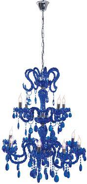 Kare blue chandelier