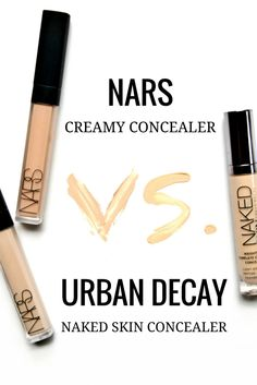 #NARS Creamy Concealer vs. #UrbanDecay Naked Skin Concealer - A comparison & review with swatches / www.thebeautycollection.com.au