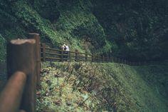 Rebekah Jule Photography Forest Engagement Photos, Railroad Tracks, Train Tracks