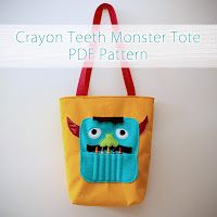 Hideous! Dreadful! Stinky!: Crayon Monster Art Tote Tutorial!