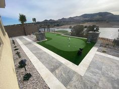 As many holes as you want, with swells and dips, we can do it all. Nothing like having your own personal putting green in your back yard.