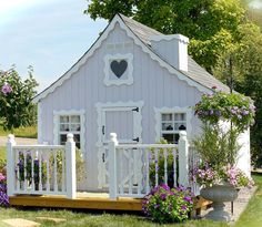 Turn an old building into your own getaway or invest in a shed shed kit that you can assemble over a weekend. The results will be the same you will have your own hideaway to relax or engage in your favorite pastime. #she shed Outside Playhouse, Playhouse Kits, Build A Playhouse, Playhouse Outdoor, Little Cottages, Little Houses, Country Cottages, Tiny House, Shed Kits